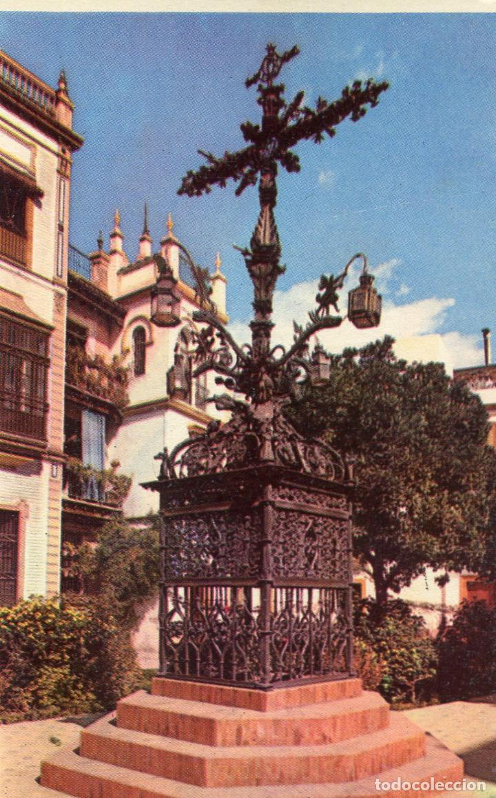 SEVILLA. RARA POSTAL. CRUZ DE LA CERRAJERIA.. HELIOTIPIA (Postales - España - Andalucia Moderna (desde 1.940))