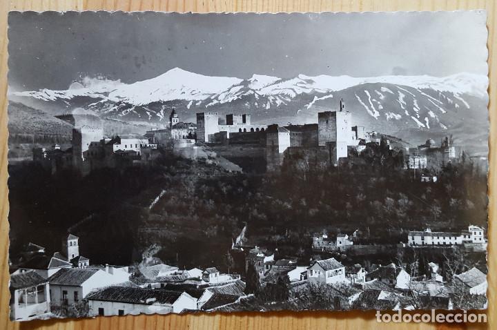GRANADA ALHAMBRA VISTA GENERAL ED. HIJOS DE GALLEGOS (Postales - España - Andalucia Moderna (desde 1.940))