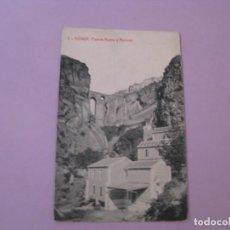 Postales: RONDA. PUENTE NUEVO Y MOLINOS. EDICION BAZAR LA ALIANZA. . Lote 153206894