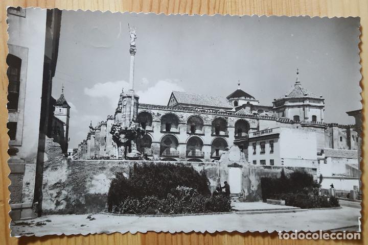 CORDOBA MONUMENTO A SAN RAFAEL Y EXTERIOR DE LA MEZQUITA Nº 33 ED. SICILIA (Postales - España - Andalucia Moderna (desde 1.940))