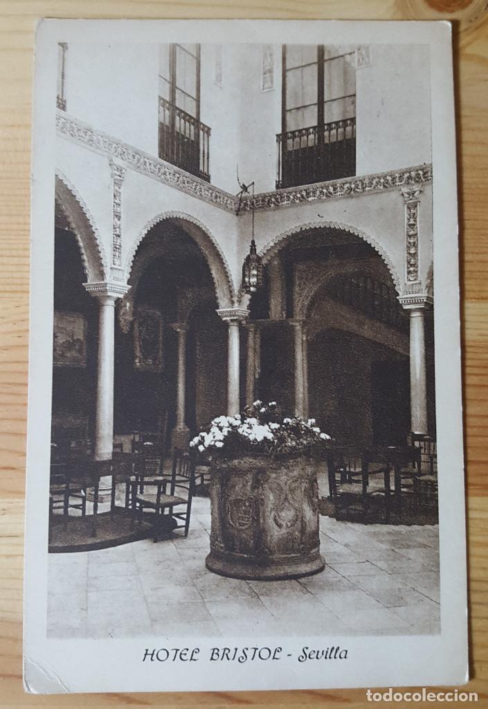 SEVILLA HOTEL BRISTOL ED. HUECOGRABADO MUMBRU (Postales - España - Andalucia Moderna (desde 1.940))