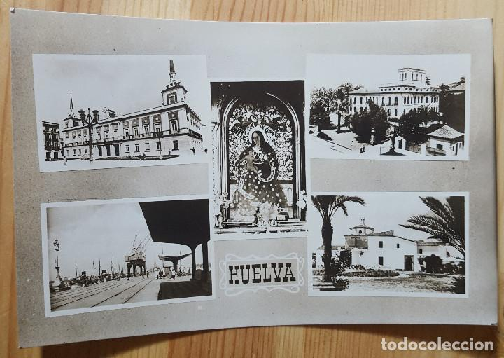 HUELVA VARIAS VISTAS ED. ARRIBAS Nº 104 (Postales - España - Andalucia Moderna (desde 1.940))