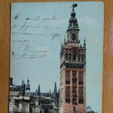 Postales: SEVILLA. TORRE DE LA GIRALDA. REVERSO SIN DIVIDIR.. Lote 153684050