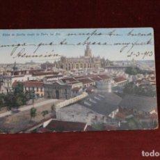 Postales: POSTAL DE 1913 DE VISTA DE SEVILLA DESDE LA TORRE DEL ORO.. Lote 154837518