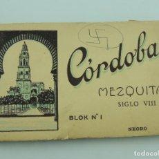 Postales: ALBUM DE 19 TARJETAS POSTALES CÓRDOBA MEZQUITA SIGLO VIII Nº 1 BLANCO Y NEGROED. L. ROISIN. Lote 155231670