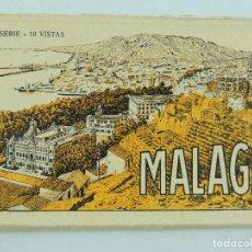 Postales: ALBUM ACORDEON DE POSTALES CON 5 VISTAS DE MALAGA . Lote 155235806