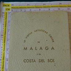 Postales: LIBRITO ACORDEÓN DE 10 POSTALES DE MÁLAGA Y TORREMOLINOS AÑOS 50. EXCLUSIVAS ÁLAMOS. SERIE I. Lote 155472186