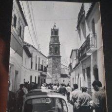 Postales: FOTOGRAFIA TAMAÑO POSTAL DEL VISO (CORDOBA) EN FIESTAS AÑOS 60. FOTO JUAN ANTONIO POZOBLANCO. Lote 155511354