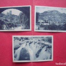Postkarten - CAZORLA.-JAEN.-POSTALES.-EL CASTILLO.-VISTA PARCIAL.-EL RIO POR LA HOZ.-L. ROISIN.-FOTOGRAFO. - 155709506