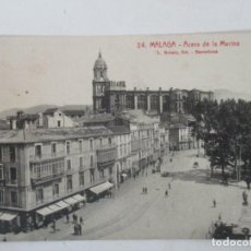 Postales: ANTIGUA POSTAL - MALAGA - ACERA DE LA MARINA - L. ROISIN - CIRCULADA - AÑO 1927. Lote 155736130