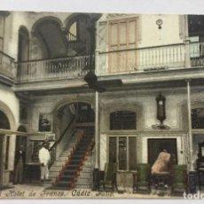 Postales: POSTAL GRAND HOTEL DE FRANCE. CADIZ. PATIO. Lote 155802202