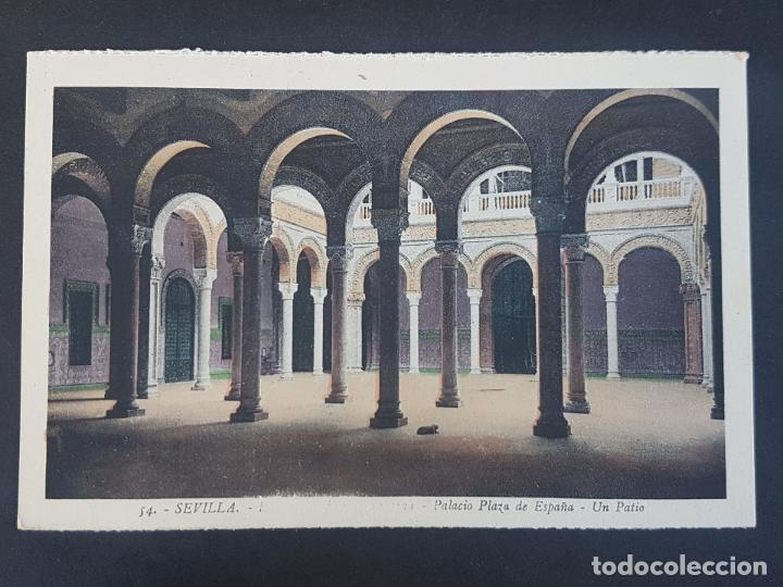SEVILLA PALACIO DE PLAZA ESPAÑA PATIO (Postales - España - Andalucía Antigua (hasta 1939))