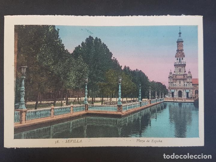 SEVILLA PLAZA DE ESPAÑA (Postales - España - Andalucía Antigua (hasta 1939))
