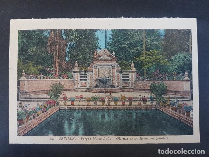 SEVILLA GLORIETA DE LOS HERMANOS QUINTERO (Postales - España - Andalucía Antigua (hasta 1939))