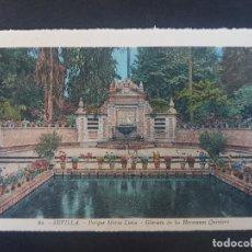 Postales: SEVILLA GLORIETA DE LOS HERMANOS QUINTERO. Lote 155821474