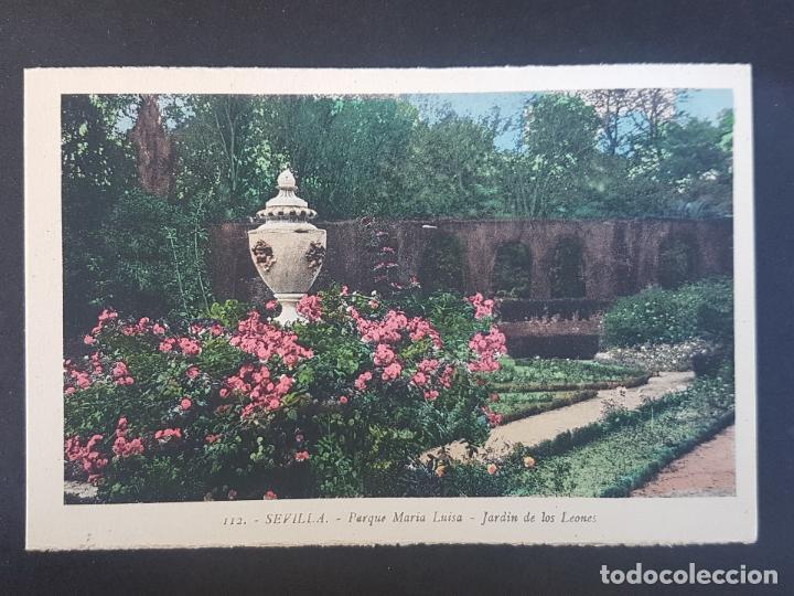 SEVILLA JARDIN DE LOS LEONES (Postales - España - Andalucía Antigua (hasta 1939))