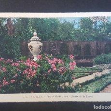 Postales: SEVILLA JARDIN DE LOS LEONES. Lote 155822382