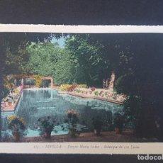 Postales: SEVILLA ESTANQUE DE LOS LIRIOS. Lote 155822506