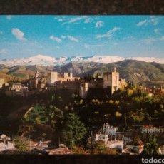 Postales - Postal de Granada. Alhambra. Vista general, al fondo Sierra Nevada. - 155895122