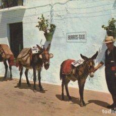 Postales: POSTAL Nº 1083 COSTA DEL SOL MIJAS PARADA DE BURROS TAXI. Lote 155991390