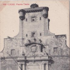 Postales: CADIZ - PUERTA TIERRA. Lote 156447974