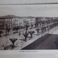 Postales: LINARES (JAÉN). PASEO DE LINAREJOS. ANÓNIMA. SIN CIRCULAR.. Lote 156503782