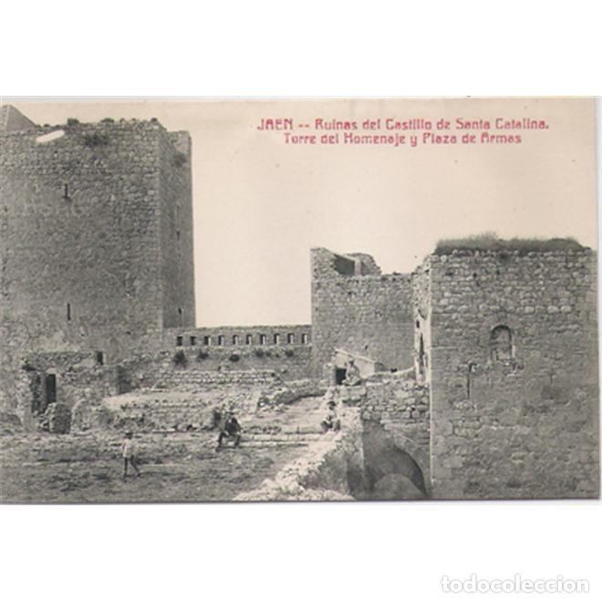 JAEN RUINAS DEL CASTILLO DE SANTA CATALINA TORRE DEL HOMENAJE Y PLAZA DE ARMAS (Postales - España - Andalucía Antigua (hasta 1939))