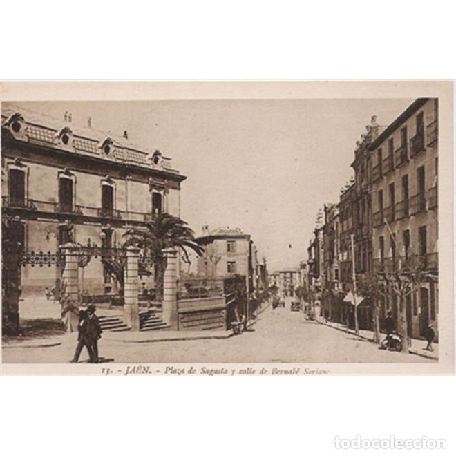 JAEN PLAZA DE SAGASTA Y CALLE DE BERNABÉ SORIANO (Postales - España - Andalucía Antigua (hasta 1939))