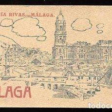 Postales: MÁLAGA BLOC COMPLETO CON 20 POSTALES ED. LIBRERÍA RIVAS. FOTOTIPIA HAUSER Y MENET. Lote 158743522