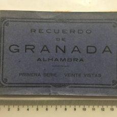 Postales: BLOC POSTAL. RECUERDO DE GRANADA. ALHAMBRA. 1ª SERIE. GRAFOS. MADRID.. Lote 159264904