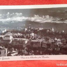 Postales: ANTIGUA POSTAL GRANADA VISTA DE LA ALHAMBRA Y LAS MURALLAS S/C PERFECTA VER FOTOS 30 GRANADA . Lote 159712766