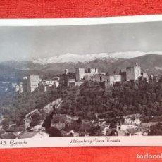 Postales: ANTIGUA POSTAL GRANADA AEREA ALHAMBRA Y SIERRA NEVADA S/C PERFECTA VER FOTOS 30 GRANADA. Lote 159712774