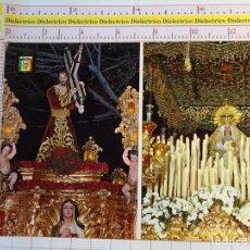 Postales: POSTAL RELIGIOSA SEMANA SANTA DE MÁLAGA. AÑO 1979. JESÚS NAZARENO DEL PASO Y MARÍA STMA ESPERANZA 80. Lote 159805326