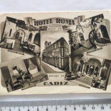 Postales: POSTAL. HOTEL ROMA. CÁDIZ. HUECOGRABADO FOURNIER. VITORIA. H. 1940?.. Lote 160148944