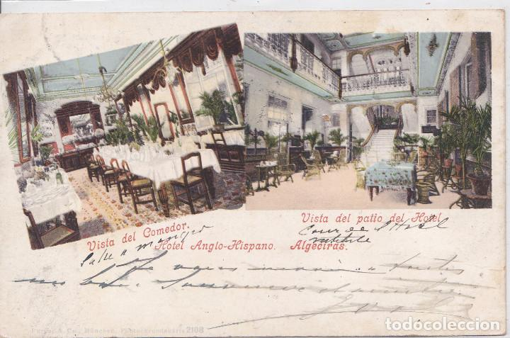 ALGECIRAS (CADIZ) - HOTEL ANGLO-HISPANO (Postales - España - Andalucía Antigua (hasta 1939))