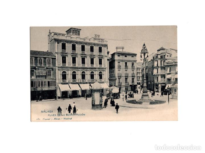 MÁLAGA.- PLAZA DE LA CONSTITUCIÓN. (Postales - España - Andalucía Antigua (hasta 1939))