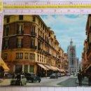 Postales: POSTAL DE MÁLAGA. AÑO 1963. CALLE LARIOS. SEAT 600, LA EQUITATIVA. 242. Lote 160704642