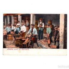 Postales: ALMERÍA.- TALLER DE BARRILERÍA, PURGER & CO. Lote 160746686