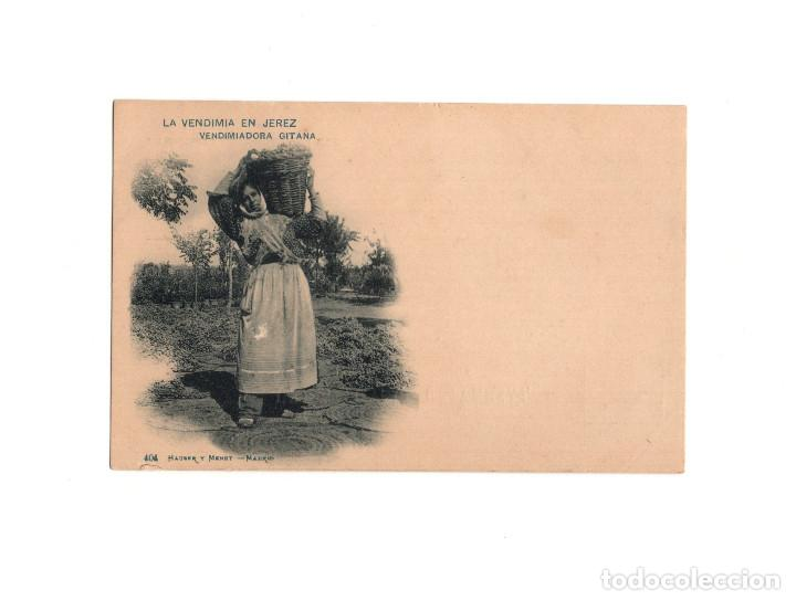 JEREZ DE LA FRONTERA.(CÁDIZ).- LA VENDIMIA. VENDIMIADORA GITANA. (Postales - España - Andalucía Antigua (hasta 1939))
