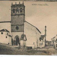 Postales: POSTAL RONDA (MALAGA) - SANTA CECILIA - HAUSER Y MENET. Lote 160895782