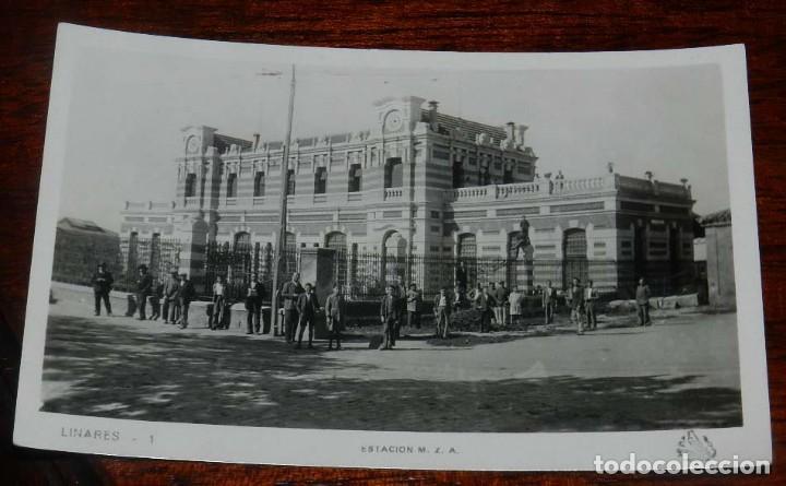 FOTO POSTAL FOTOGRAFICA DE LINARES, ESTACION M.Z.A., FERROCARRIL, N.1, NO CIRCULADA. (Postales - España - Andalucía Antigua (hasta 1939))