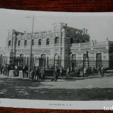 Postales: FOTO POSTAL FOTOGRAFICA DE LINARES, ESTACION M.Z.A., FERROCARRIL, N.1, NO CIRCULADA.. Lote 161146306