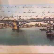 Postales: 1903 ANTIGUA POSTAL SEVILLA GUADALQUIVIR. Lote 161151253