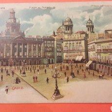 Postales: 1900 CÁDIZ AYUNTAMIENTO PLAZA DE ISABEL II. Lote 161281425