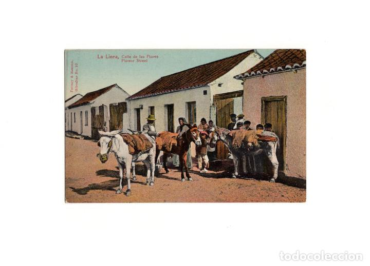 LA LINEA.(CÁDIZ).- CALLE DE LAS FLORES. (Postales - España - Andalucía Antigua (hasta 1939))