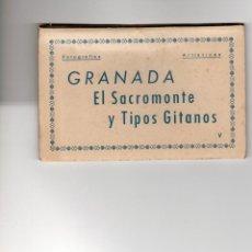Postales: GRANADA. SACROMONTE Y GITANOS. BLOC DE10 POSTALES. COMPLETO. Lote 162250710