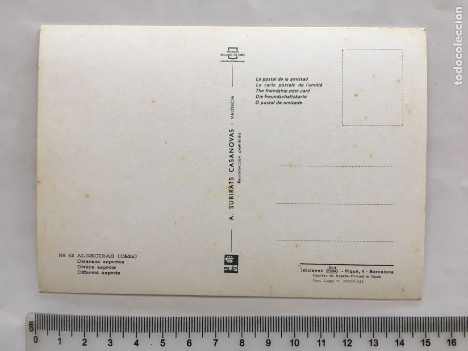 Postales: POSTAL. ALGECIRAS. CÁDIZ. DIVERSOS ASPECTOS. SUBIRATS CASANOVAS. H. 1970?. - Foto 2 - 162602990