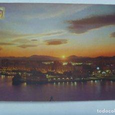 Postales: POSTAL DE MALAGA ( COSTA DEL SOL ): PUESTA DE SOL EN EL PUERTO. Lote 162904194