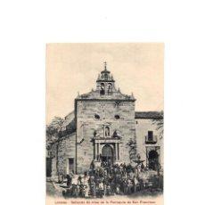 Postales: LINARES.(JAÉN).- SALIENDO DE MISA DE LA PARROQUIA DE SAN FRANCISCO.. Lote 164213870