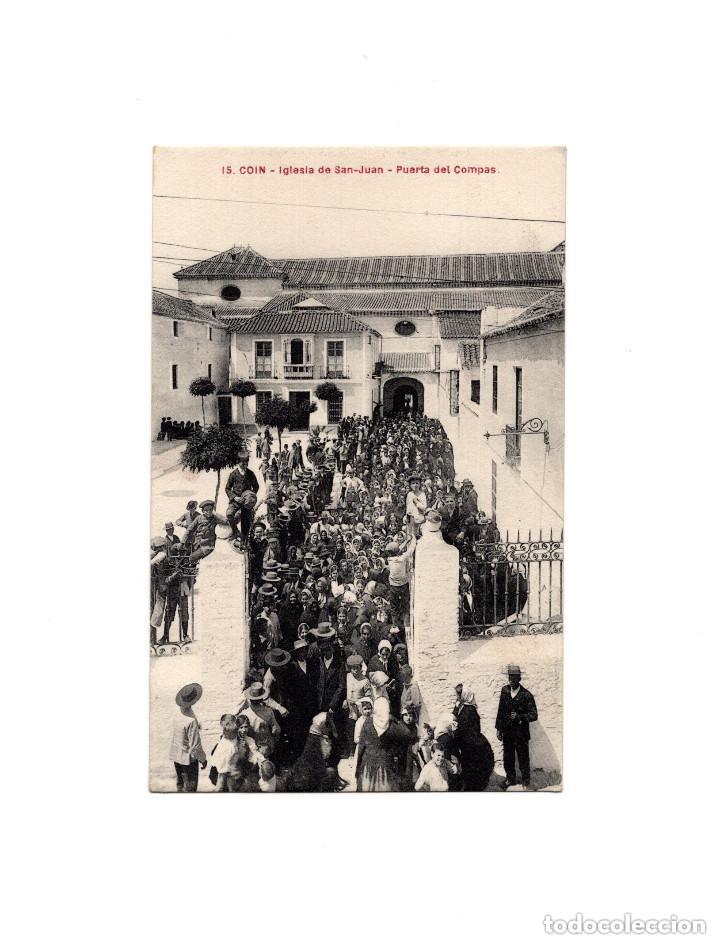 COÍN.(MÁLAGA).- IGLESIA DE SAN JUAN. (Postales - España - Andalucía Antigua (hasta 1939))
